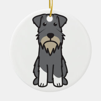Miniature Schnauzer Dog Cartoon Ornaments