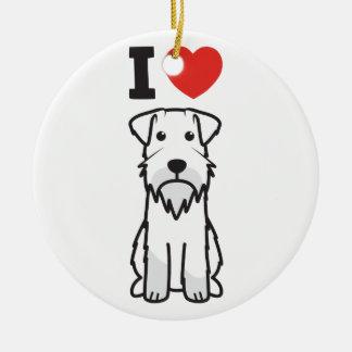 Miniature Schnauzer Dog Cartoon Christmas Tree Ornaments