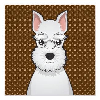 Miniature Schnauzer Dog Cartoon Paws Photo Print
