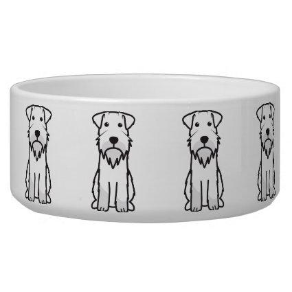 Miniature Schnauzer Dog Cartoon Pet Food Bowl