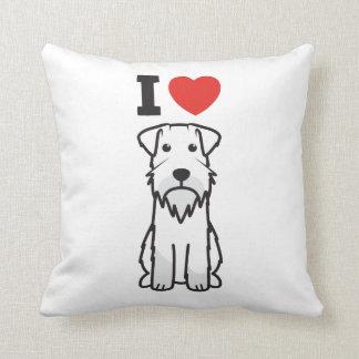 Miniature Schnauzer Dog Cartoon Pillow
