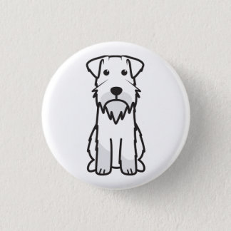 Miniature Schnauzer Dog Cartoon Pinback Button
