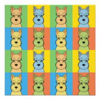 Miniature Schnauzer Dog Cartoon Pop-Art Photo Art