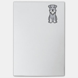 Miniature Schnauzer Dog Cartoon Post-it Notes