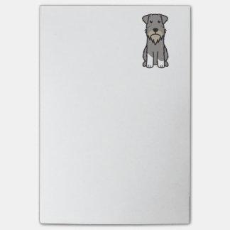 Miniature Schnauzer Dog Cartoon Post-it® Notes