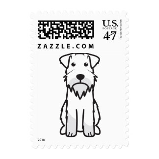 Miniature Schnauzer Dog Cartoon Postage