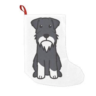 Miniature Schnauzer Dog Cartoon Small Christmas Stocking