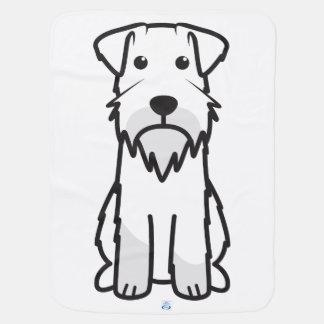 Miniature Schnauzer Dog Cartoon Stroller Blanket