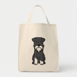 Miniature Schnauzer Dog Cartoon Tote Bag