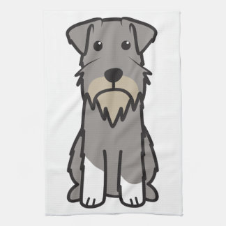 Miniature Schnauzer Dog Cartoon Towel