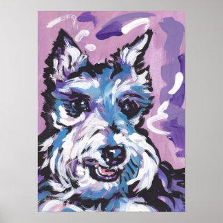 Miniature Schnauzer Dog Pop Art Poster Print