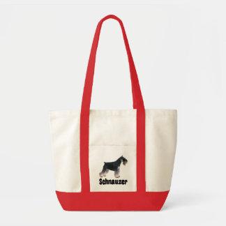 Miniature Schnauzer Dog Puppy Love Tote Bag