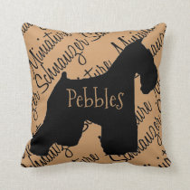 Miniature Schnauzer Dog Silhouette Custom Pillow