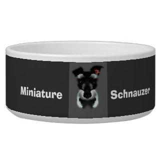 Miniature schnauzer doggie bowl dog bowls