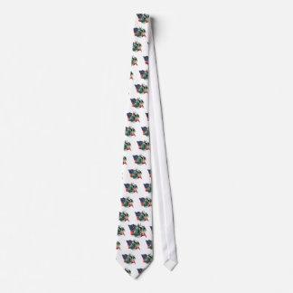 Miniature Schnauzer Flag Tie