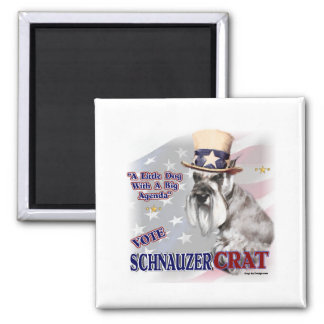 Miniature Schnauzer Gifts 2 Inch Square Magnet