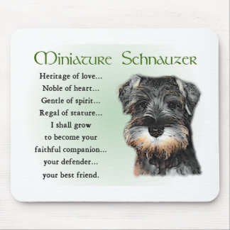 Miniature Schnauzer Gifts Mouse Pad