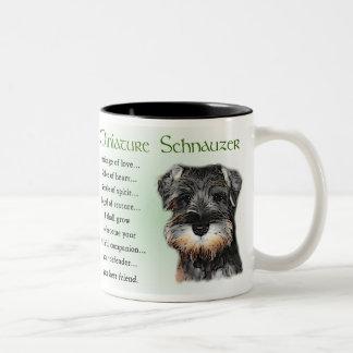 Miniature Schnauzer Gifts Two-Tone Coffee Mug