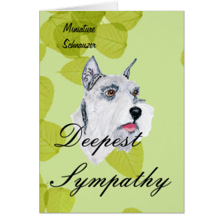 Miniature Schnauzer - Green Leaves Design Card