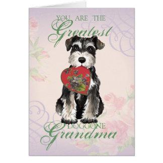 MIniature Schnauzer Heart Grandma Card