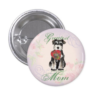 MIniature Schnauzer Heart Mom Button