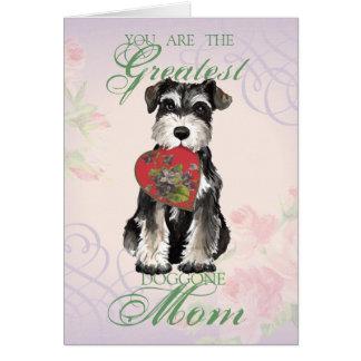 MIniature Schnauzer Heart Mom Card