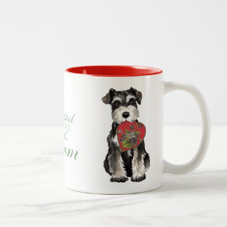 MIniature Schnauzer Heart Mom Two-Tone Coffee Mug