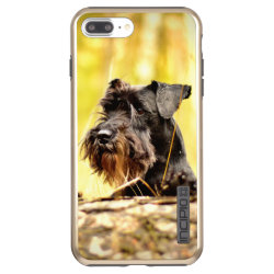 Incipio DualPro Shine iPhone 7 Plus Case with Miniature Schnauzer Phone Cases design