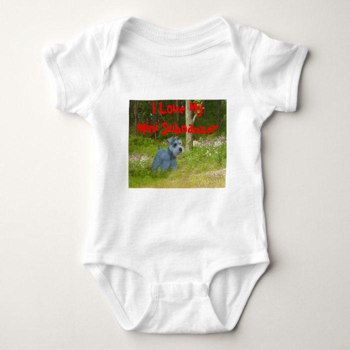 Miniature Schnauzer Infant Creeper