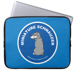 Neoprene Laptop Sleeve 15' with Miniature Schnauzer Phone Cases design