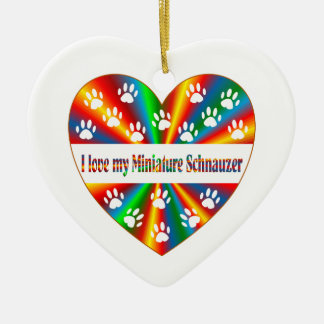 Miniature Schnauzer Love Ceramic Ornament