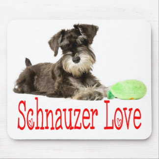 Miniature Schnauzer Love Gray Puppy Dog Mouse Pad