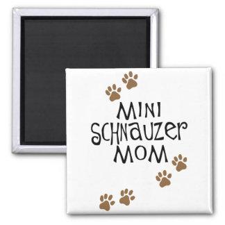 Miniature Schnauzer Mom 2 Inch Square Magnet