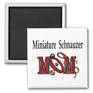 Miniature Schnauzer MOM Gifts 2 Inch Square Magnet
