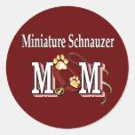 Miniature Schnauzer MOM Gifts Round Sticker