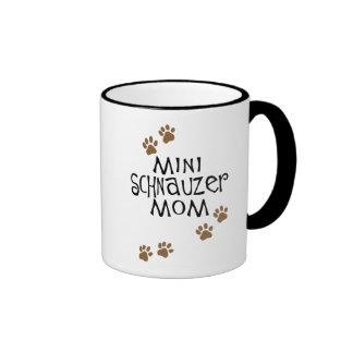Miniature Schnauzer Mom Ringer Coffee Mug