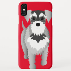 Miniature Schnauzer on the Move iPhone XS Max Case