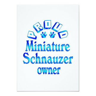 Miniature Schnauzer Owner Card