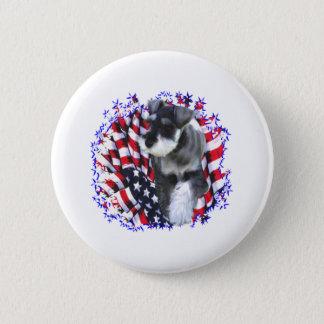 Miniature Schnauzer Patriot Pinback Button