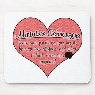 Miniature Schnauzer Paw Prints Dog Humor Mouse Pad