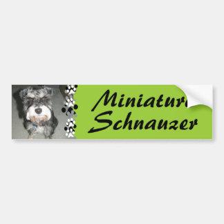 Miniature Schnauzer Photo Car Bumper Sticker