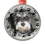 Miniature Schnauzer Photo Metal Ornament