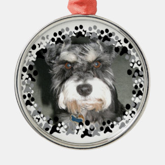 Miniature Schnauzer Photo Metal Ornament