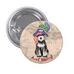 Miniature Schnauzer Pirate 1 Inch Round Button