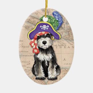 Miniature Schnauzer Pirate Ceramic Ornament