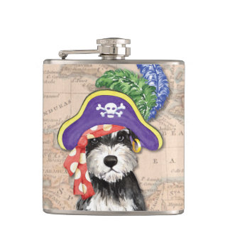 Miniature Schnauzer Pirate Flask