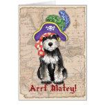 Miniature Schnauzer Pirate Greeting Card