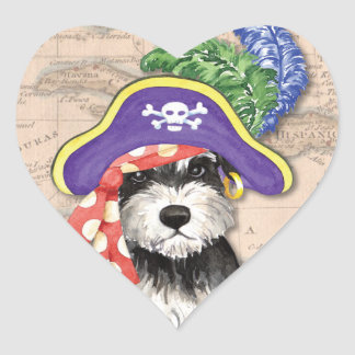 Miniature Schnauzer Pirate Heart Sticker