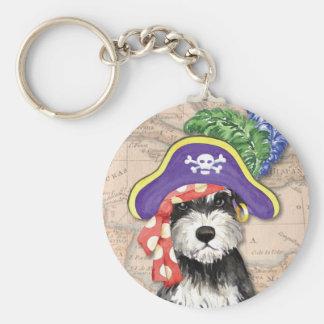 Miniature Schnauzer Pirate Keychain