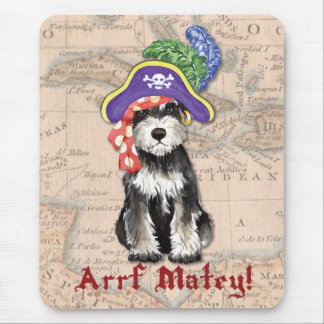 Miniature Schnauzer Pirate Mouse Pad